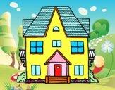 Dibujo Casa de campo con balcones pintado por sharonbe