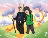 Dibujo Abuelos felices pintado por LucyAbe