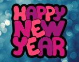 Dibujo Feliz año nuevo pintado por dominium
