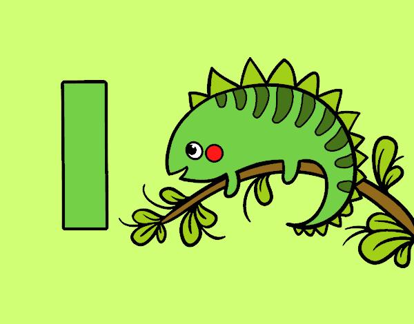 Dibujo de I de Iguana pintado por en Dibujosnet el da 270916 a