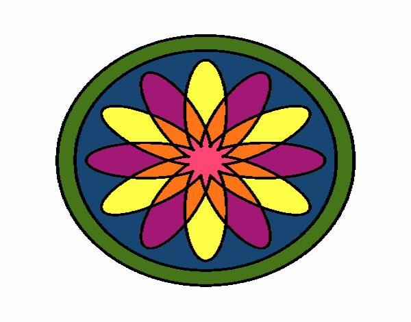 34 Mandalas Para Imprimir Y Colorear: Dibujo De Mandala 34 Pintado Por En Dibujos.net El Día 27