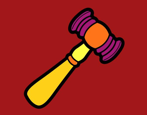 Mazo de juzgado