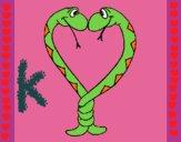 Dibujo Serpientes enamoradas pintado por karen357