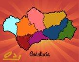 Dibujo Andalucía pintado por Osobal