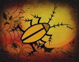 Dibujo Cucaracha negra pintado por reiny