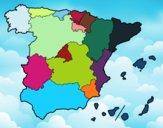Dibujo Las Comunidades Autónomas de España pintado por Osobal
