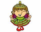 Princesa saludando
