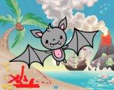 Dibujo Un murciélago de Halloween pintado por Osobal