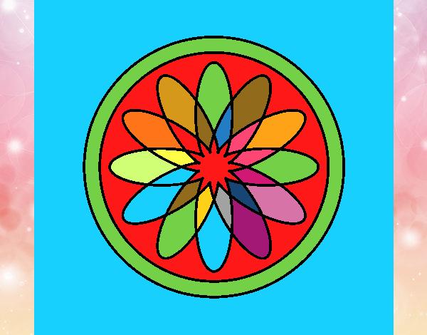 34 Mandalas Para Imprimir Y Colorear: Dibujo De Mandala 34 Pintado Por En Dibujos.net El Día 15