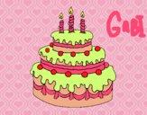Dibujo Tarta de cumpleaños pintado por gabrielars