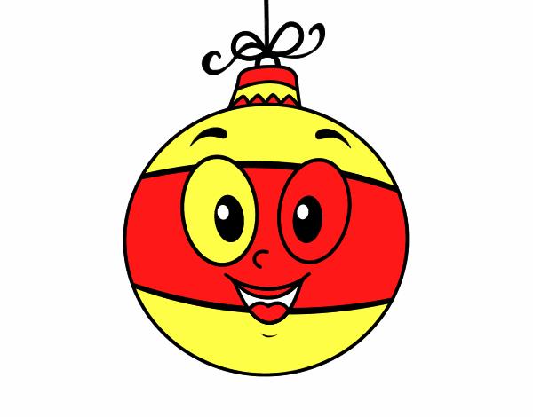 Dibujo de bola de rbol de navidad pintado por en dibujos for Dibujos de navidad pintados