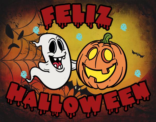 Dibujo De Hapy Hallowen Pintado Por En Dibujos Net El Día