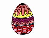 Huevo de Pascua con decorado estampado