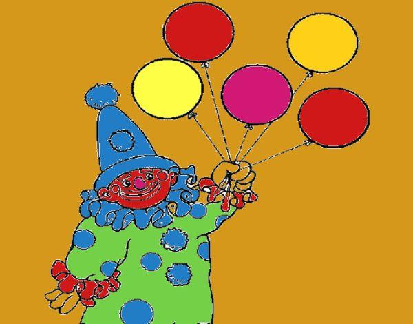 Dibujo de payasos con golbos pintado por en Dibujos.net el