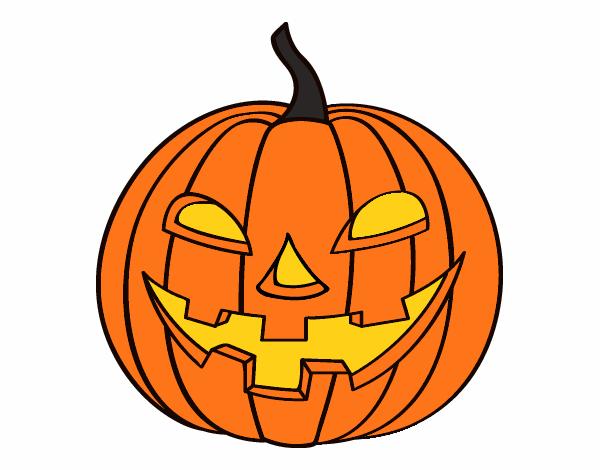 Dibujo de calabaza malvada pintado por en el for Calabaza halloween dibujo