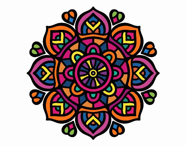 Dibujo de mandala para la concentraci n mental pintado por en el d a 24 10 16 a las - Colores para la concentracion ...