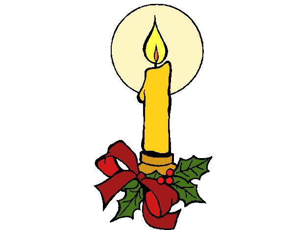 Dibujos De Velas De Navidad Para Colorear: Dibujo De Vela De Navidad 2 Pintado Por En Dibujos.net El