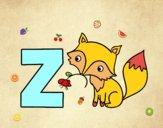 Dibujo Z de Zorro pintado por pucho