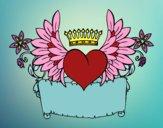 Dibujo Mensaje con corazón pintado por delicias