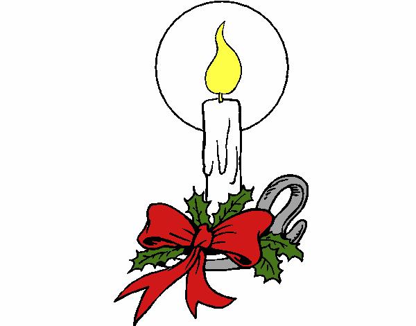 Dibujos De Velas De Navidad Para Colorear: Dibujo De Vela De Navidad 3 Pintado Por En Dibujos.net El