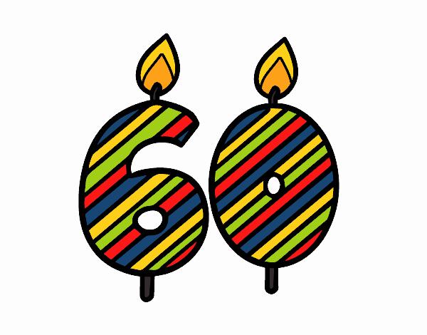 Dibujo de 60 a os pintado por en el d a 10 11 - Fiesta cumpleanos 8 anos ...