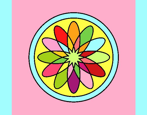 34 Mandalas Para Imprimir Y Colorear: Dibujo De Mandala 34 Pintado Por En Dibujos.net El Día 10