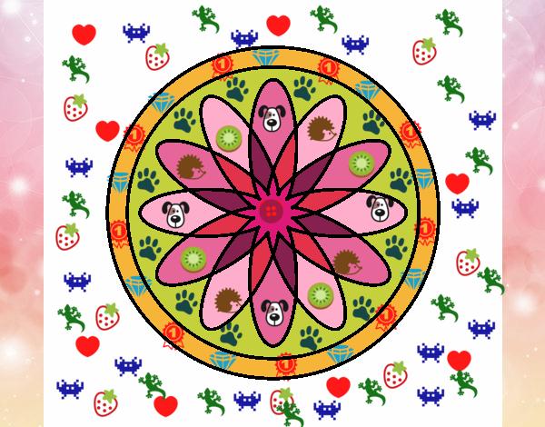34 Mandalas Para Imprimir Y Colorear: Dibujo De Mandala 34 Pintado Por En Dibujos.net El Día 12