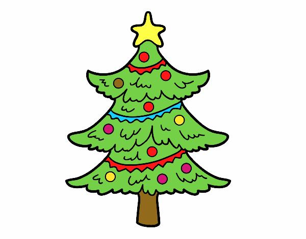 Dibujo de rbol de navidad decorado pintado por en dibujos - Dibujos de arboles de navidad decorados ...