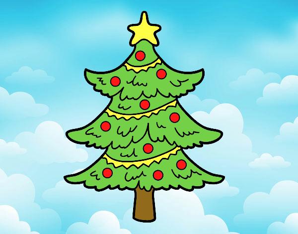 Dibujo de arbol de navidad pintado por en el for Dibujos de navidad pintados