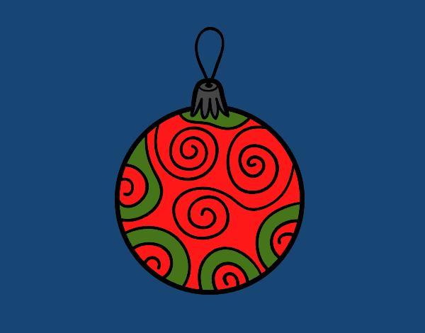 Dibujo de bola de rbol de navidad decorada pintado por en - Bola arbol navidad ...