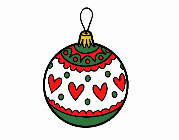 Dibujo de bola de navidad estampada pintado por natyp en for Dibujo bola navidad