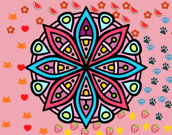 Dibujo de mandala para la concentraci n pintado por en el d a 15 11 16 a las 17 31 - Colores para la concentracion ...