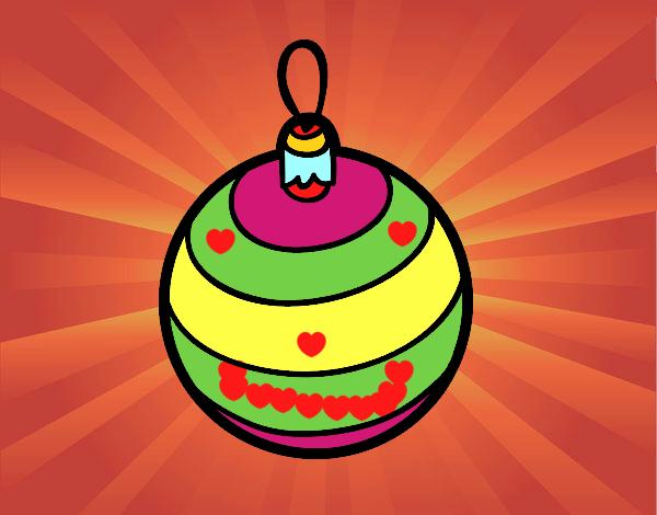 Dibujo de una bola de rbol de navidad pintado por en for Dibujo bola navidad