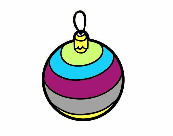 Dibujo de bola de navidad pintado por en el - Bola arbol navidad ...