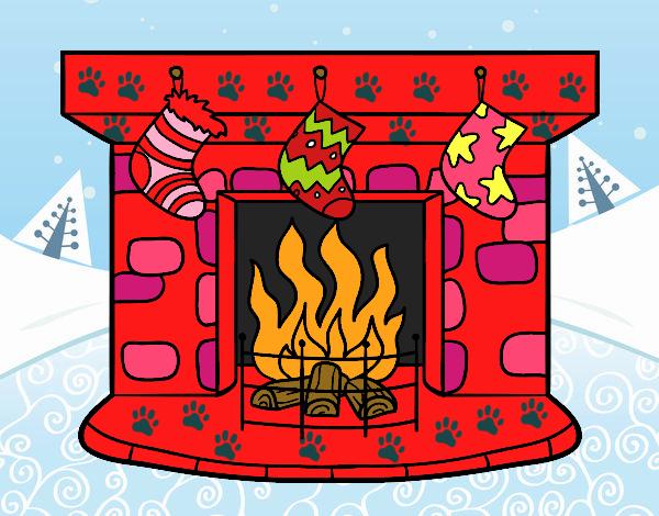 Dibujo de chimenea de navidad pintado por estefanial en - Dibujos de chimeneas de navidad ...
