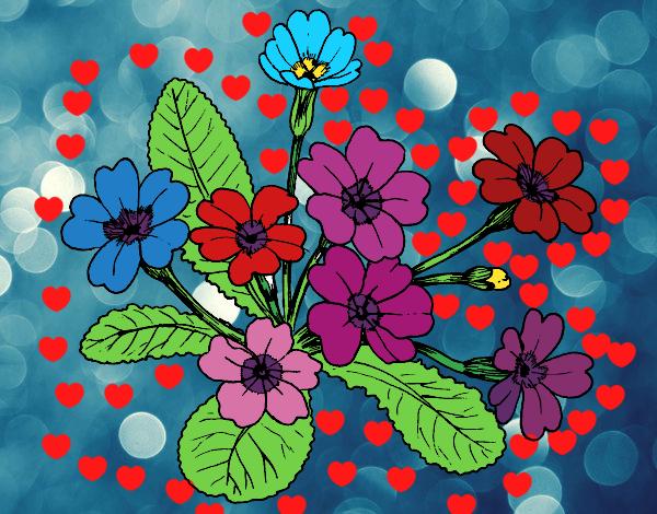Flores En Dibujo A Color: Dibujo De Flores De Colores Pintado Por Marifer200 En