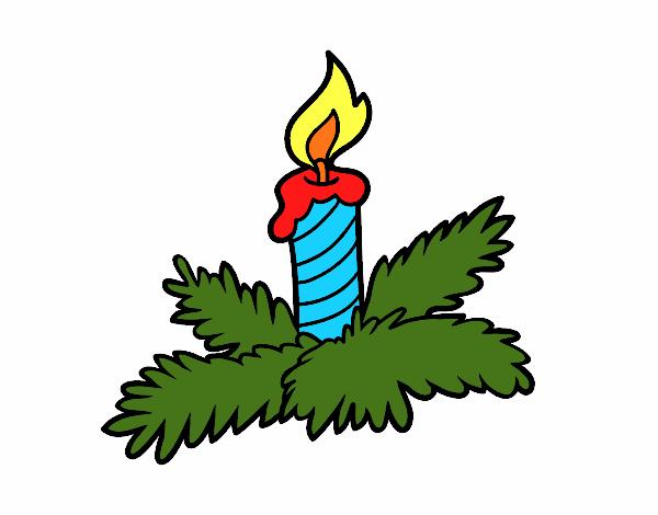 Dibujos De Velas De Navidad Para Colorear: Dibujo De Vela Navideña Pintado Por En Dibujos.net El Día