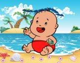 Bebé sonriendo
