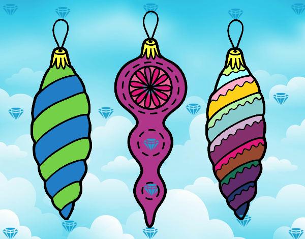 Dibujo de decoraciones de navidad rbol de navidad pintado - Decoraciones arboles de navidad ...