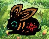 Dibujo Signo del conejo pintado por rrevel