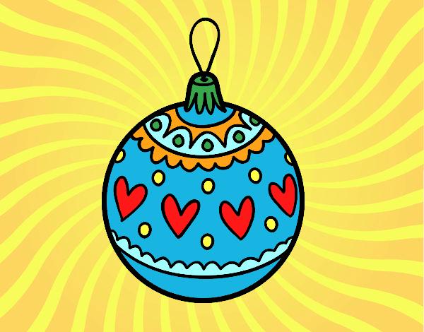 Dibujo de bola de navidad estampada pintado por en dibujos for Dibujo bola navidad