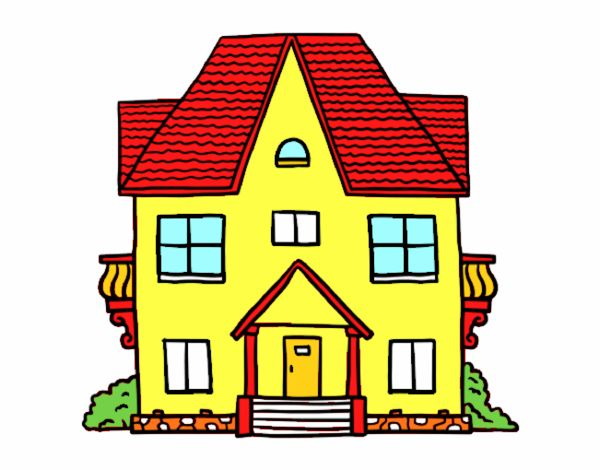 Dibujo de casa amarilla pintado por en el d a 05 12 16 a las 23 23 34 imprime - Imagenes de casas para dibujar ...
