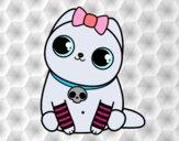 Dibujo Gatito emo pintado por sheyla9