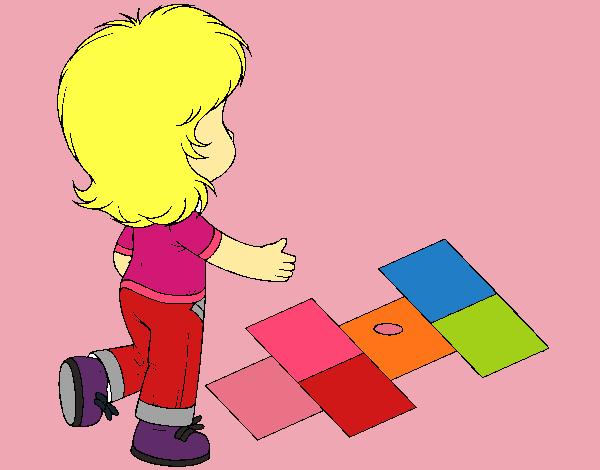 Rayuela Dibujo Para Colorear E Imprimir: Dibujo De Rayuela Pintado Por En Dibujos.net El Día 09-12