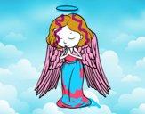 Dibujo Un ángel orando pintado por sheyla9