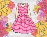 Dibujo Vestido con falda de vuelo pintado por sheyla9