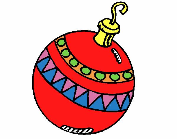 Dibujo de bola de navidad pintado por en el for Dibujo bola navidad