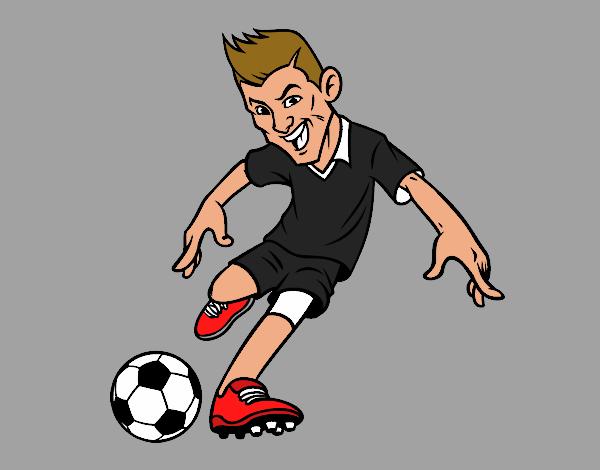Dibujo De Delantero De Futbol Para Colorear: Dibujo De Delantero De Futbol Pintado Por Archos799 En