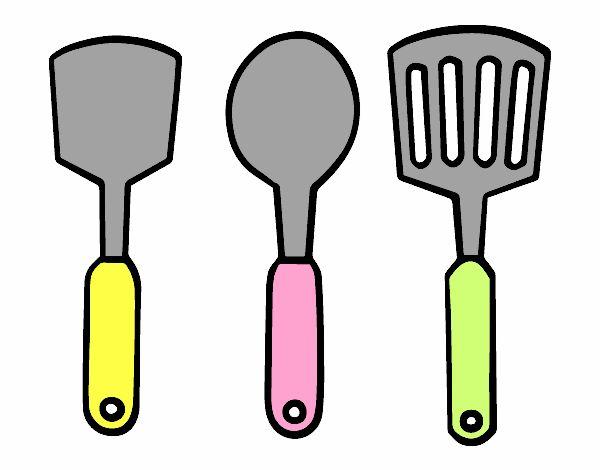 Dibujar Cocina | Dibujo De Espatulas De Cocina Pintado Por En Dibujos Net El Dia 18