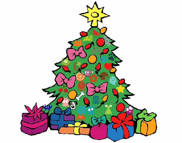 Dibujo de rbol de navidad pintado por en el - O arbol de navidad ...